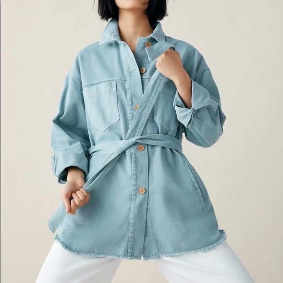Zara light blue jeans jacket
